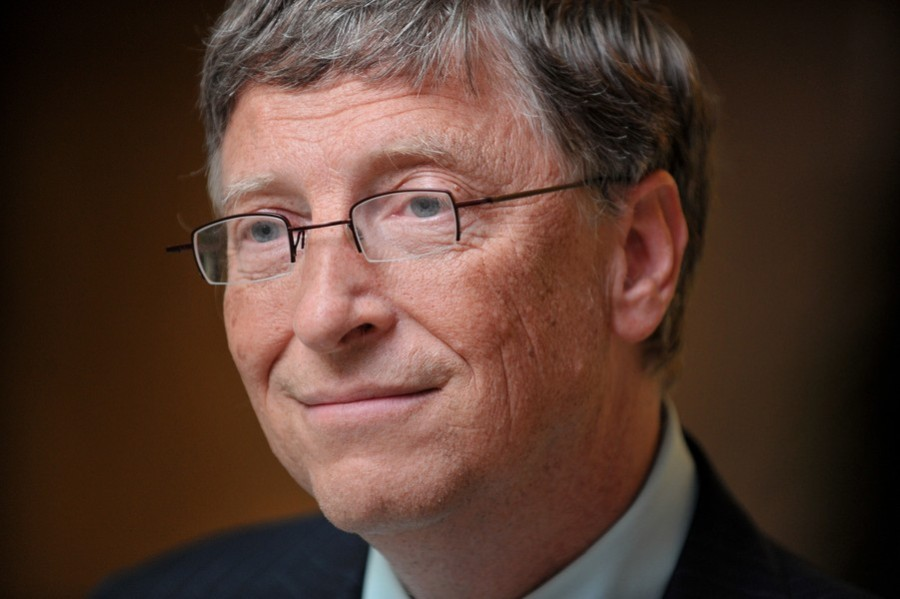 Microsoft tycoon Bill Gates is pictured