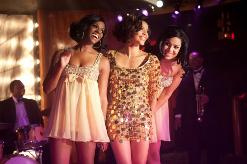 "Tika Sumpter, left, with Carmen Ejogo and Jordin Sparks in a scene from ""Sparkle."" (Alicia Gbur/TriStar Pictures,via AP)"