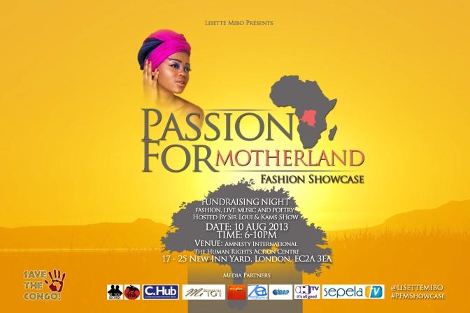 {Event} Lisette Mibo, la Super Modèle Congolaise,organise l'événement  « Passion For Motherland » pour collecter de fonds