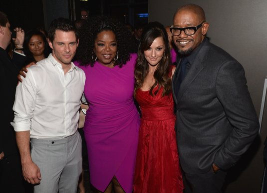 LOS ANGELES, CA - AUGUST 12: Actors James Marsden, Oprah Winfrey, Minka Kelly and Forest Whitaker attend the after party for the Premiere Of The Weinstein Company's 'Lee Daniels' The Butler' at Regal Cinemas L.A. Live on August 12, 2013 in Los Angeles, California. (Photo by Alberto E. Rodriguez/Getty Images)