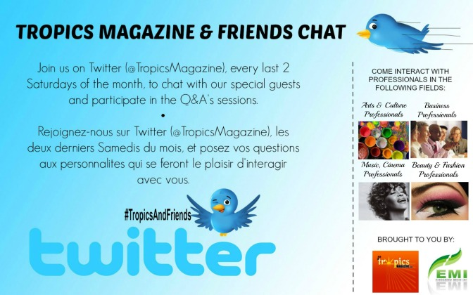 TROPICS MAGAZINE & EVERGREEN MEDIA INC. TO LAUNCH TWITTER CHAT SERIES FROM AUGUST 24, 2013