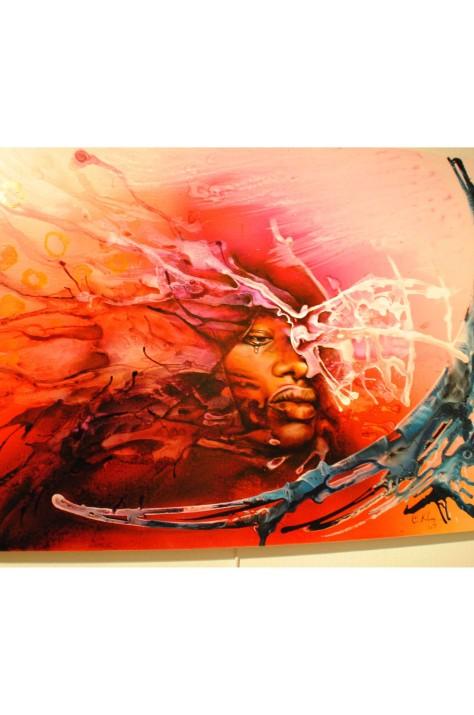 Oeuvre: Dernier Tableau GOMA; Artiste: Claudy Khan