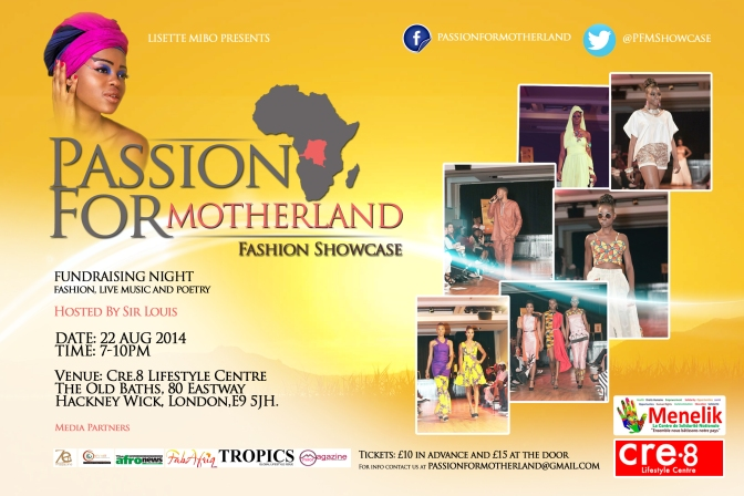 PASSION FOR MOTHERLAND – A vibrant night of live music, fashion and poetry!